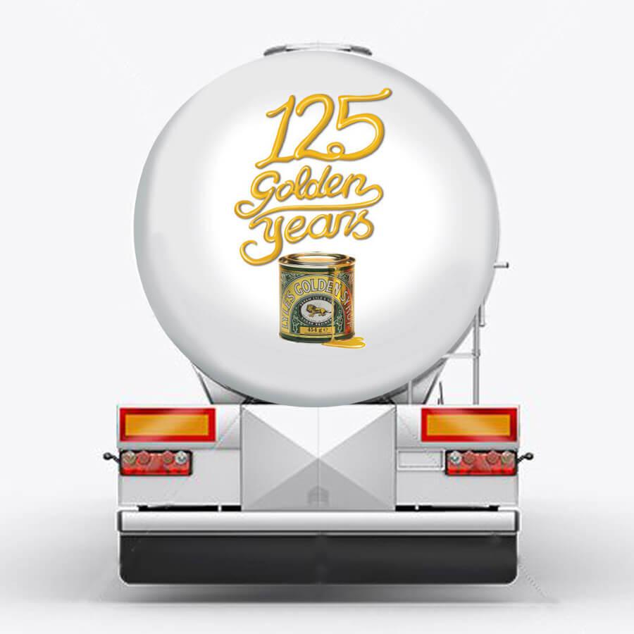 125th anniversary tanker branding Lyle's Golden Syrup