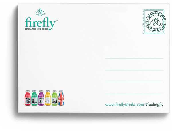 firefly postcard back green