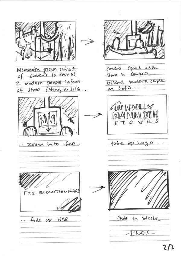 Woolly Mammoth Animation Storyboard
