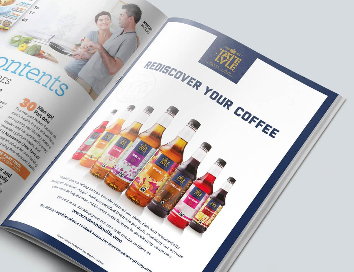 Trade magazine T&L syrups advert
